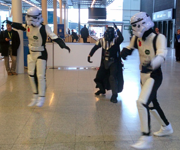 Darth and the gang busting some moves!