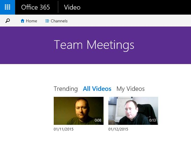 Office 365 Video Team Meetings