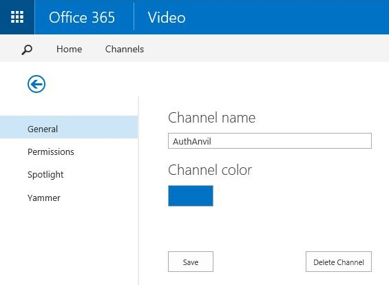 Office 365 Video Channel