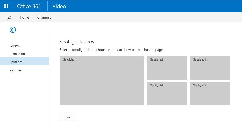 Office 365 Video Spotlight