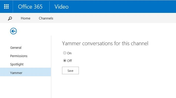 Office 365 Video Yammer
