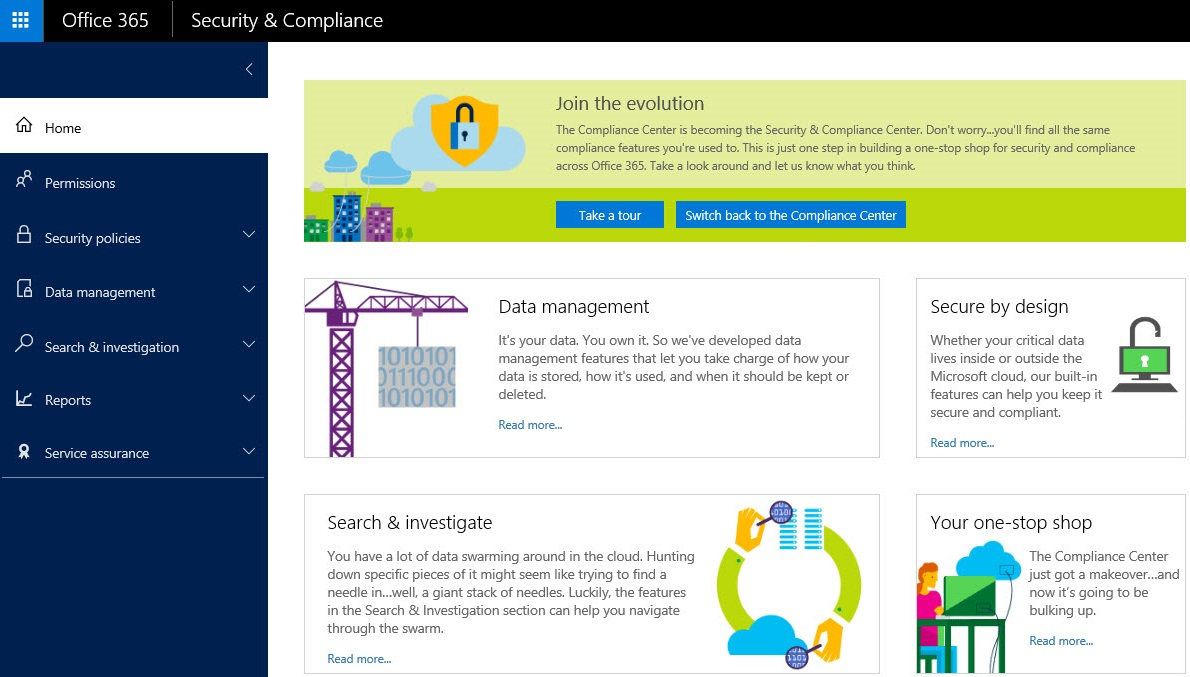 Office 365 Security And Compliance Center