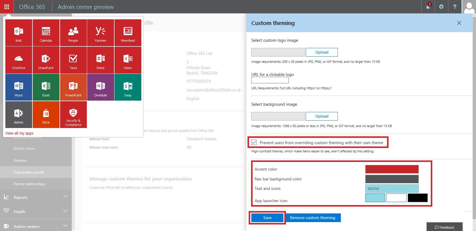 Office 365 Branding 3
