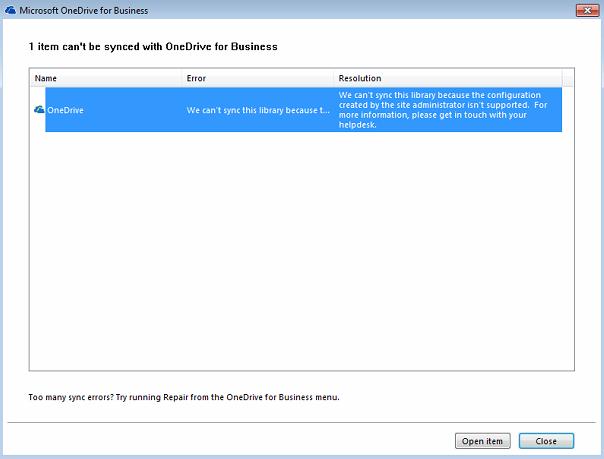 OneDrive Upgrade 1
