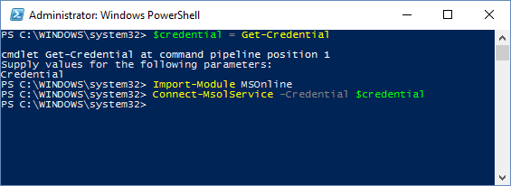 Connect PowerShell to Office 365 4