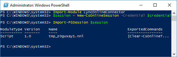 Connect PowerShell to Office 365 5