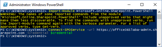 Connect PowerShell to Office 365 6