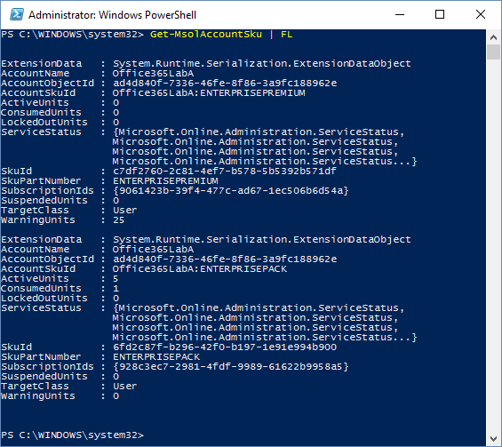 PowerShell Managing Subscriptions 2