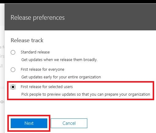 office365-enable-early-release-and-try-new-features-first-7