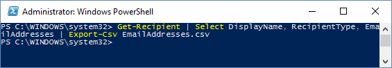 list-email-addresses-in-office-365-using-powershell-2