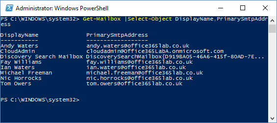 list-email-addresses-in-office-365-using-powershell-4