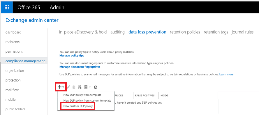 dlp policy office 365 prevent bad language in email 3