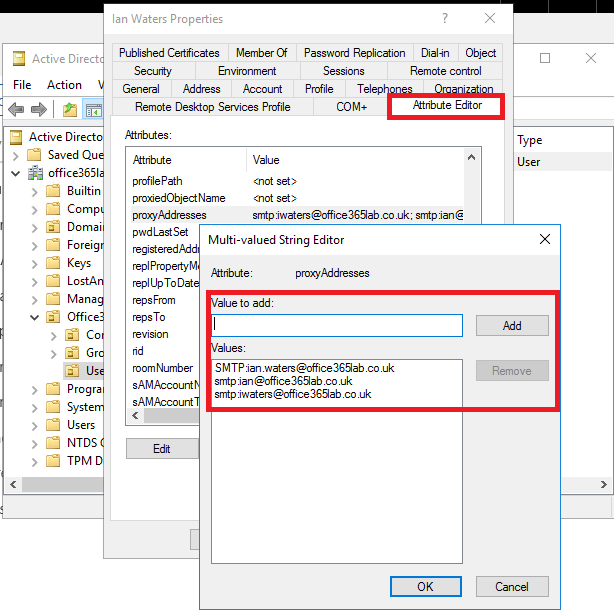 How to Sync an Existing Office365 Tenant into a New Active Directory
