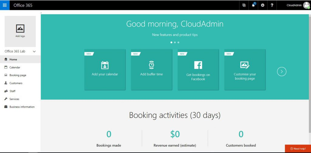 setup a customer bookings page using office 365 bookings slashadmin life in it. Black Bedroom Furniture Sets. Home Design Ideas