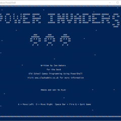 Power Invaders – Old School Games Programming using PowerShell