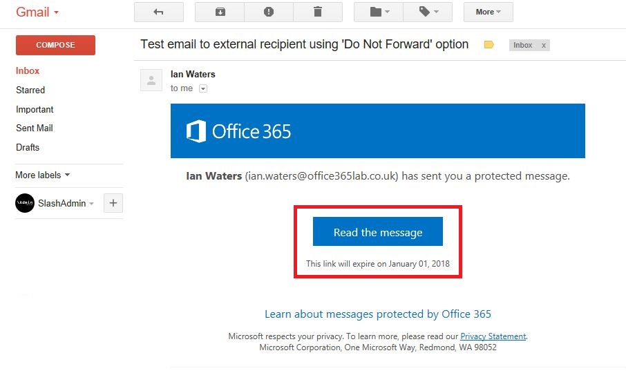 Exploring The New Office 365 Email Protection and Encryption Options |  SlashAdmin \ Life in IT
