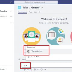 Office 365 Teams – How to mention someone and link to files in chat