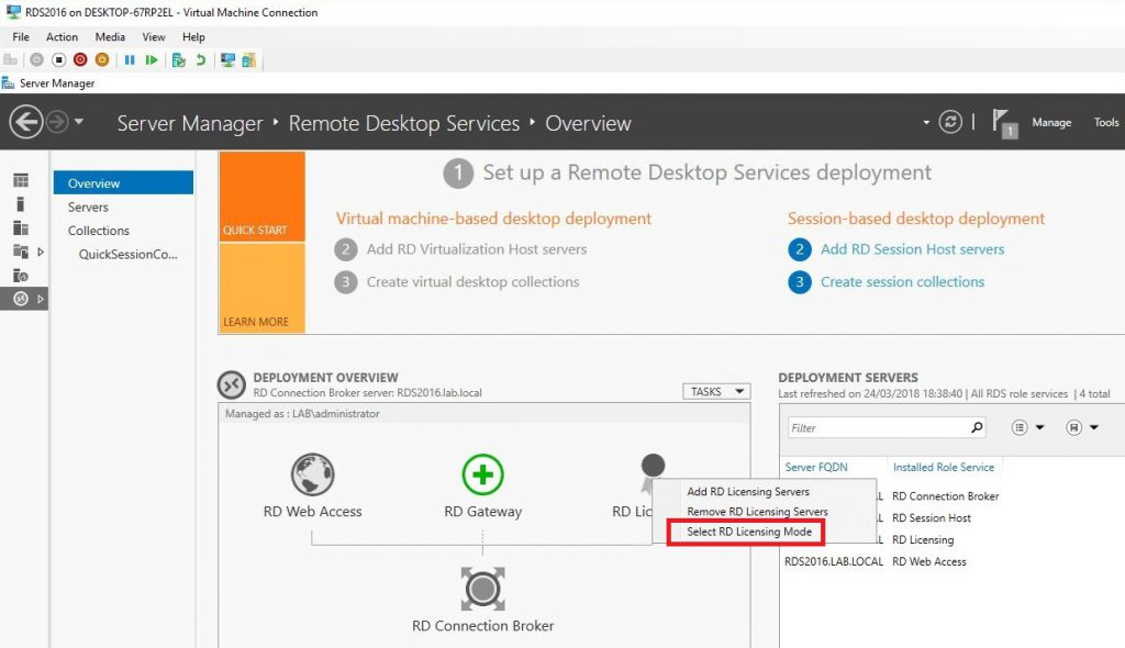 How to Setup a Single Server RDS Deployment Using Server 2016