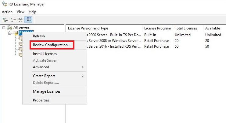 windows server 2016 rd license manager activation key