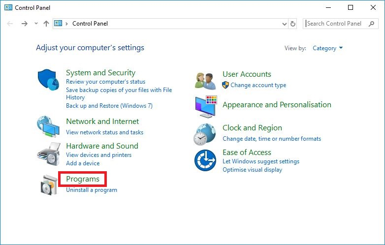 how to install windows xp software on windows 10