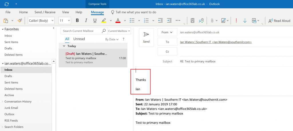 Office 365 Using Multiple Signatures Which Switch Automatically