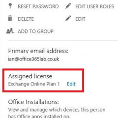 Office 365: Change from Exchange P1 to Small Business Premium licenses