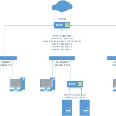 DrayTek Vigor 2960 Multi tenant setup using private and public IP addresses on LAN