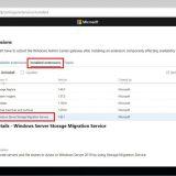 Server Storage Migration Service Extension Not Visible